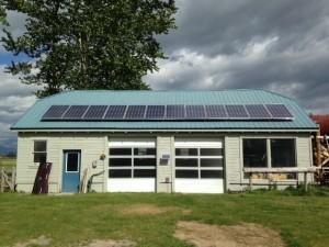12 Module Grid-tie Shop Solar System Hamilton Montana
