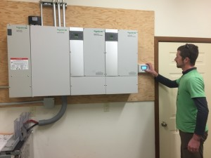 Equitpment and Battery Room for a Photovoltaic system