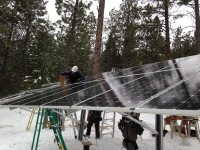 Fact: Solar panels work with light, not heat so it doesn't matter how cold it gets outside.