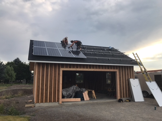 Garage Constructed Solar Installation
