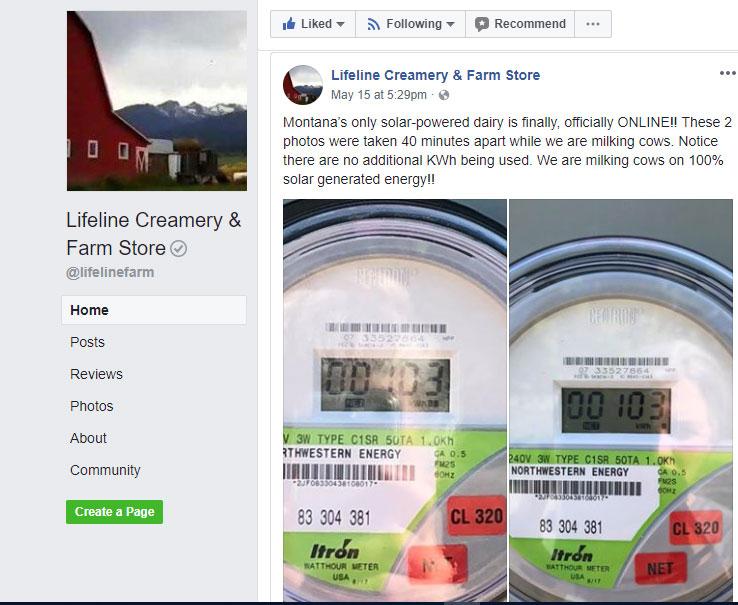 Lifeline Creamery goes Solar